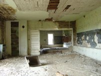 An abandoned schoolhouse in Nebrasksa.