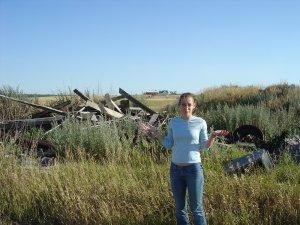 On the homestead in South Dakota