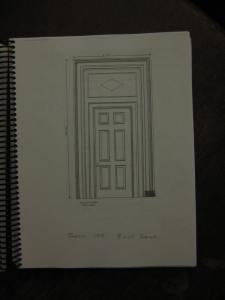 measured drawing of door