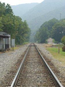 Norfolk-Southern tracks in Hot Springs, NC