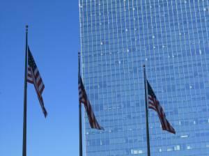 American Flags near 30th Street Station, Philadelphia