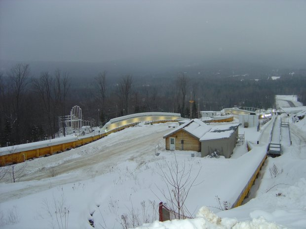 The bobsled/luge/skeleton track at Lake Placid