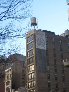 Building with water tower, view from Madison Square Park