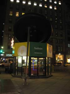 Giant button and needle