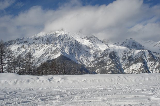 Cesana, Italy.  Location for races 5 and 6 of the Intercontinental Cup, Bobsled and Skeleton.