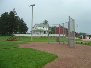Field of Dreams site, house and ballfield
