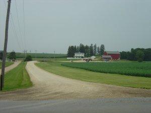 Approaching the Field of Dreams site in Dyersville, Iowa