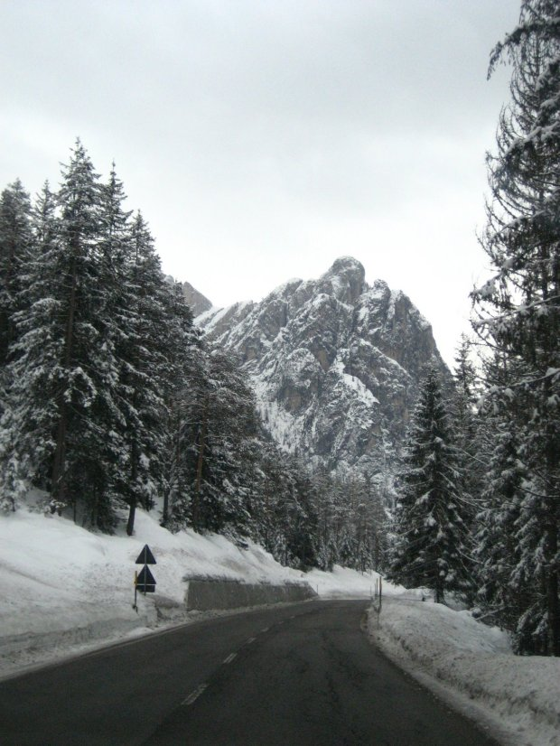 Road near Cortina, Italy.