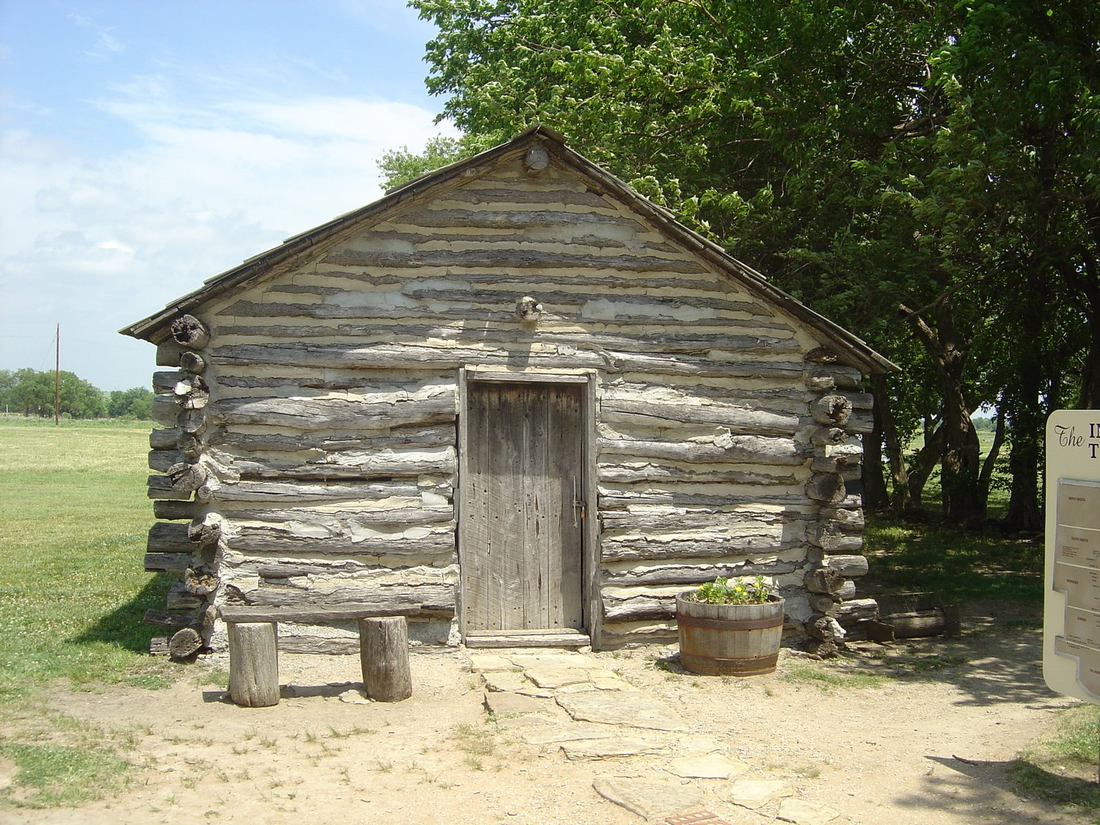 of the Ingalls' home in Indian Territory near Independence, Kansas