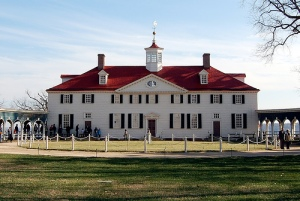 The Bowling Green Side of Mount Vernon, George Washington's home near Washington DC. Photograph by Andrew Deci.