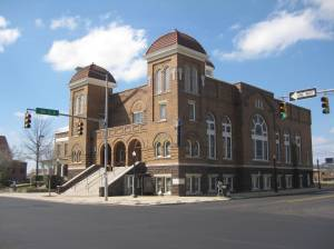 Closer view of the 16th Street Baptist Church