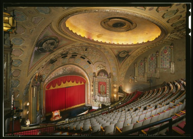 Alabama Theater Interior: Perspective View of the Stage Looking from the East. Photograph by Jack E. Boucher, 1996. United States Library of Congress, HABS.