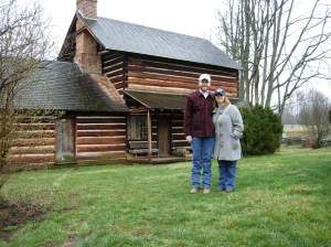 Lauren and me in front of the Zebulon Vance House. Courtesy of Brad Hatch.