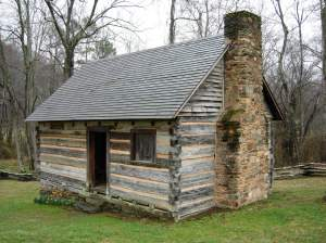 The slave quarter at the Zebulon Vance birthplace. Courtesy of Brad Hatch.
