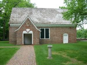 Yeocomico Church in Westmoreland County, VA. Photograph courtesy of Brad Hatch.