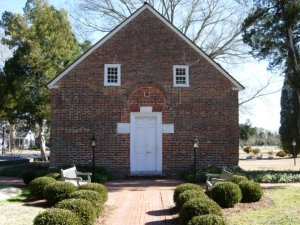 St. Thomas Church, the oldest church in North Carolina, constructed 1734. Photograph by Brad Hatch.