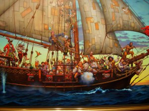 """Forty Thieves"" in the NC Maritime Museum. Courtesy of Brad Hatch."