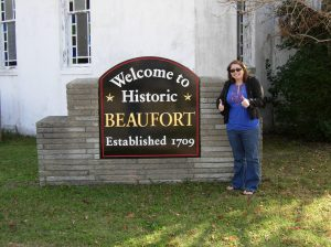 Lauren was very excited about her trip to Beaufort. Courtesy of Brad Hatch.