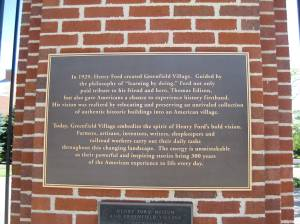 Greenfield Village is a National Historic Landmark.