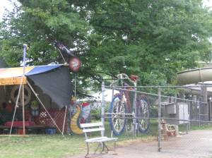 Giant bicycle in Geneva-on-the-lake, Ohio.