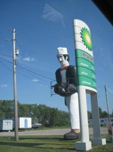 Another view of the giant man near the BP.