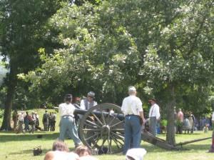 Civil War reenactment at East Harbor State Park.