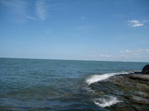 Lake Erie from Marblehead Lighthouse State Park.
