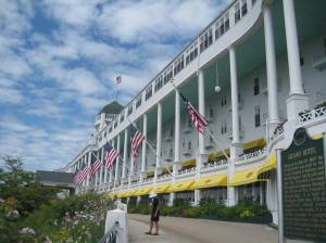 My camera could not capture the full length of the porch of the Grand Hotel.