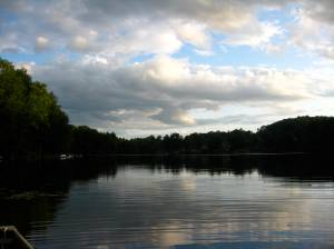 View of the lake.