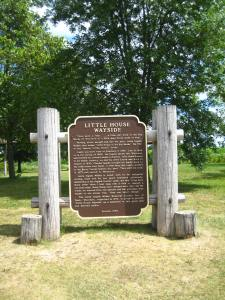 Historical marker at the wayside.