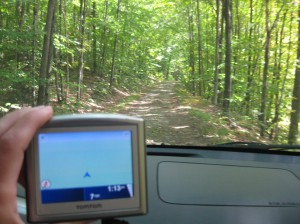 Technology often helps in survey, but not when the GPS cannot figure out our location!