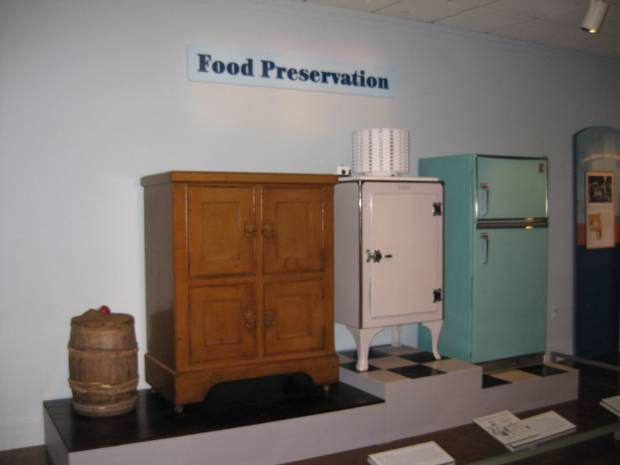 Food preservation display.