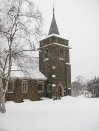 The Adirondack Community Church in Lake Placid, NY.