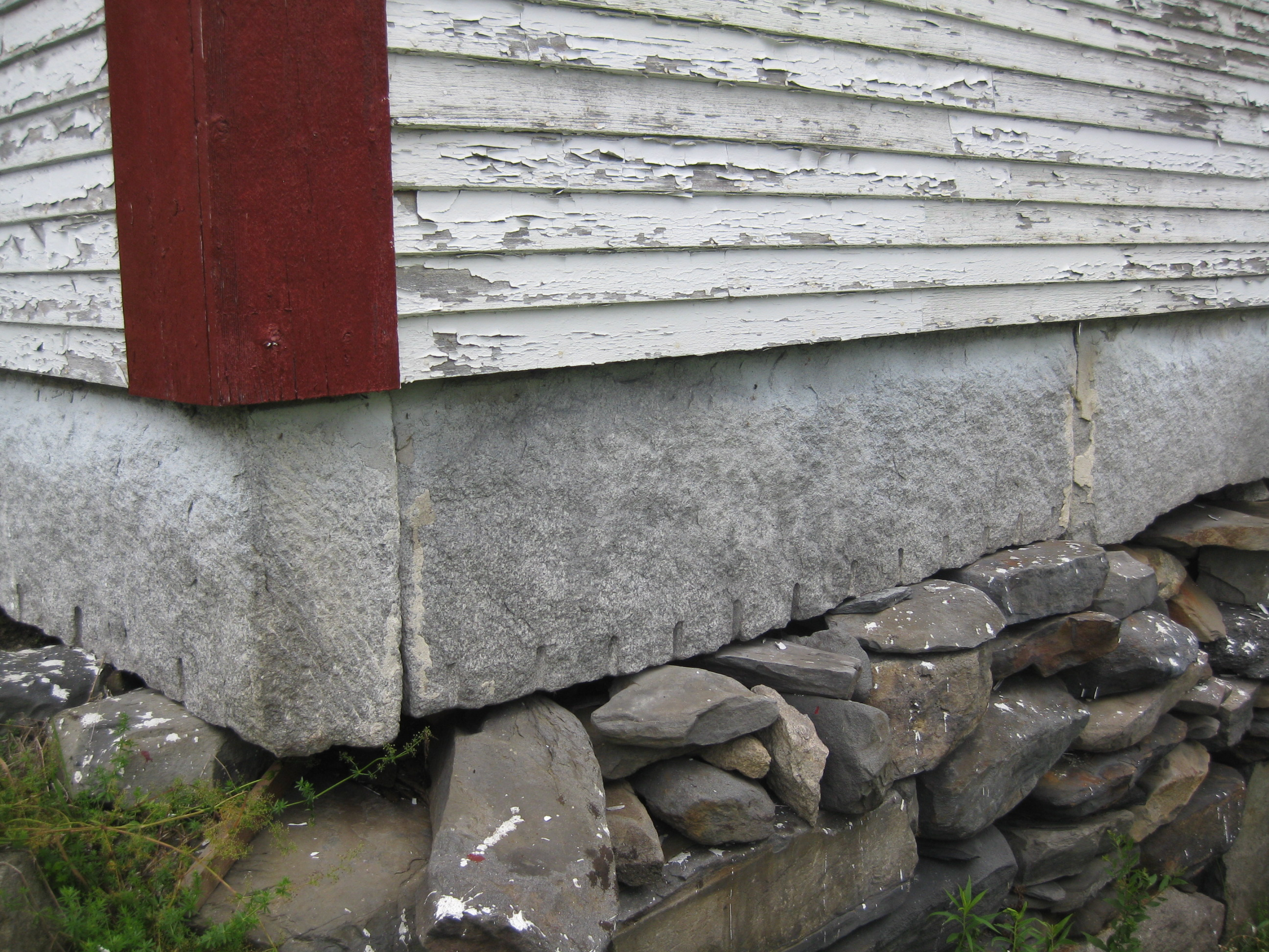 Granite Stone Foundation : Abandoned vermont charleston schoolhouse preservation