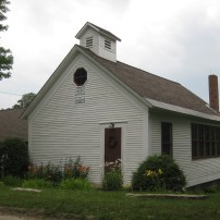 A schoolhouse rehabilitated to a residence in Albany, Vermont.