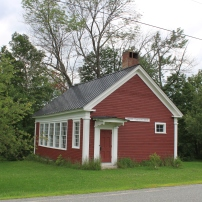District #7 Schoolhouse in the Jericho Rural Historic District in White River Junction, VT. Currently it is the Jericho Community Center.