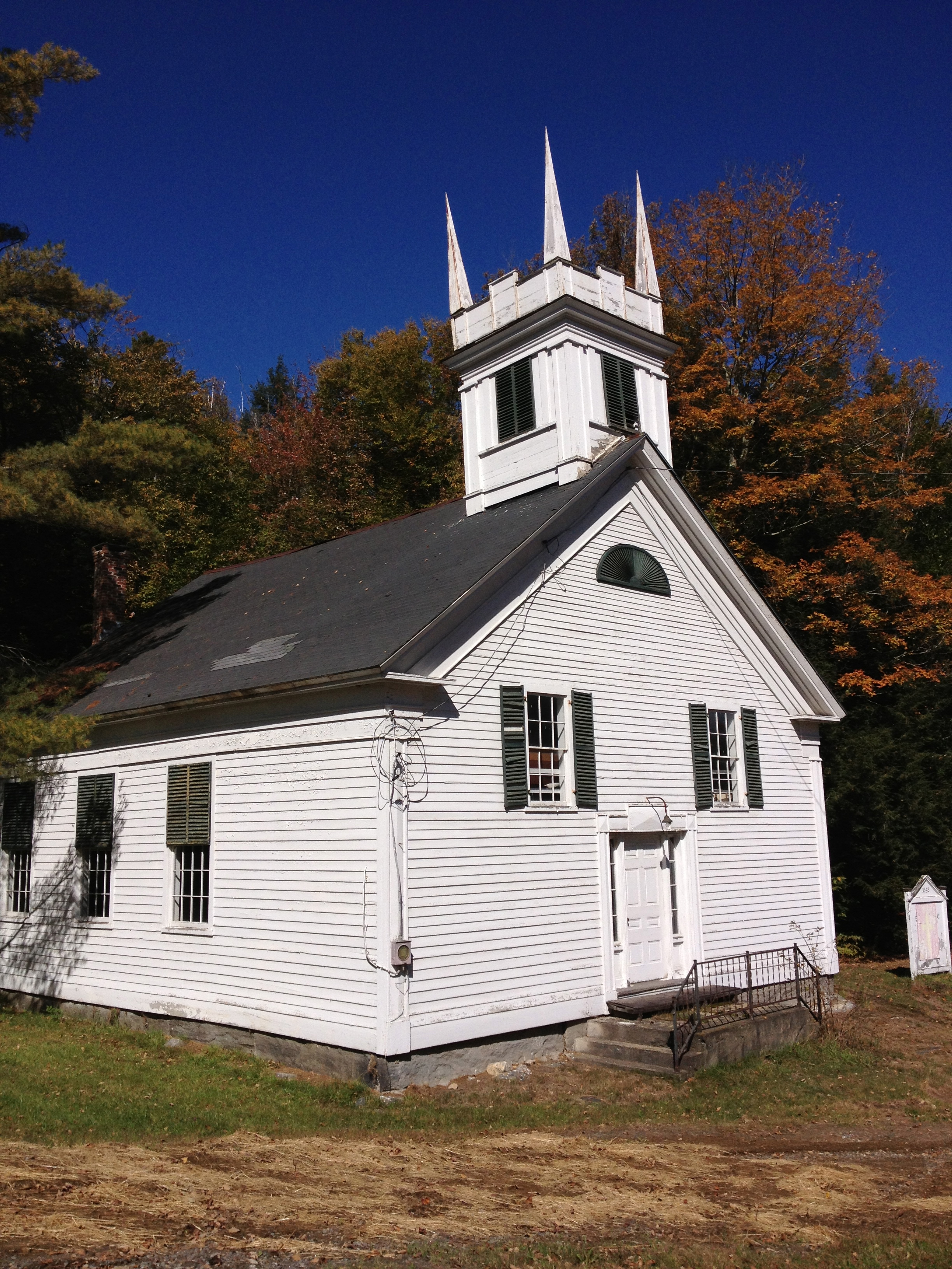 Abandoned Vermont Simonsville Meeting House