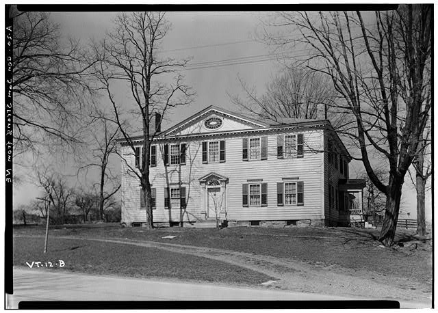 The Samuel Strong House in Vergennes as documented for HABS/Library of Congress. Click for digital source.