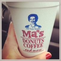 More coffee. From Ma's in Newport, RI.