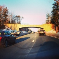 Merritt Parkway cruising on a sunny winter afternoon.