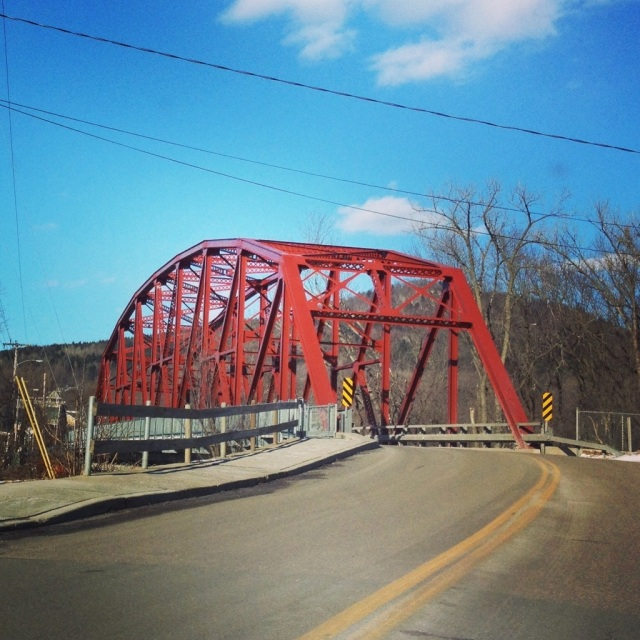 A truss bridge in Richmond, VT