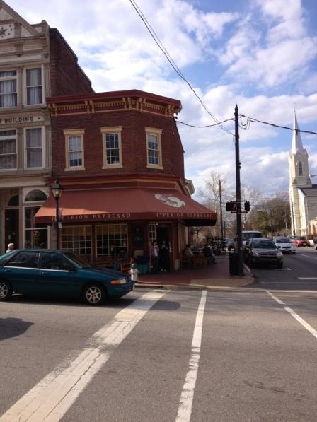 Hyperion Espresso in downtown Fredericksburg.