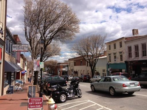 Downtown Fredericksburg, VA.
