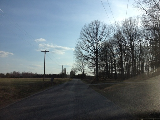 Driving in rural Virginia.