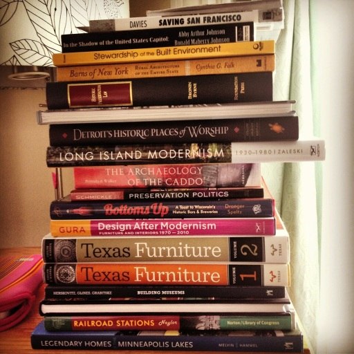 The stack of book prize nominations.