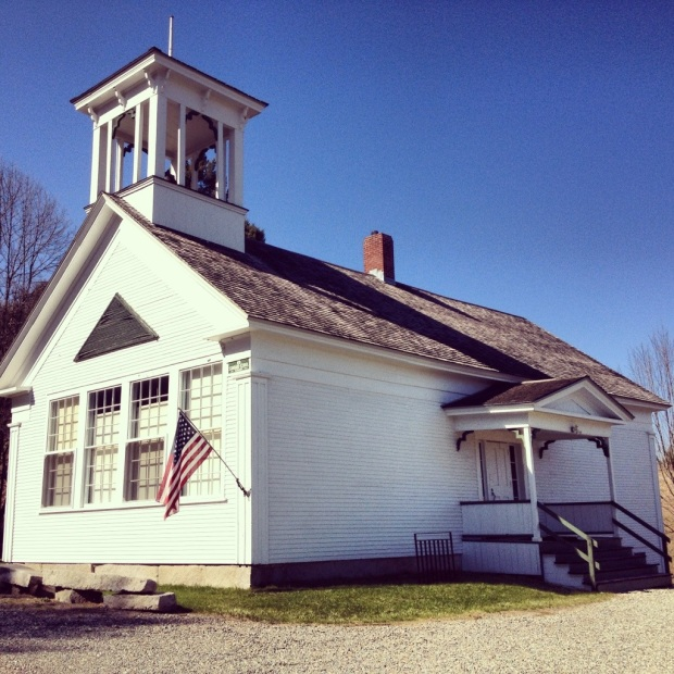 Historic schoolhouse in Craftsbury, VT.