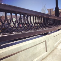 New bridge railing in Manchester, VT