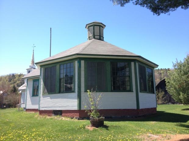 The Octagon School of East Bethel, VT built in 1842.