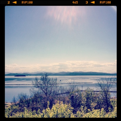 An extremely hot day in Burlington, VT in early May.