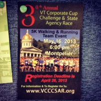 Montpelier's Corporate Cup 5K race.